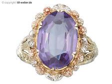 Ring Amethyst Gold Antik um 1930