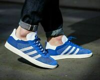 adidas Originals Mens Gazelle Primeknit Trainers Blue 90's Shoes BB5246