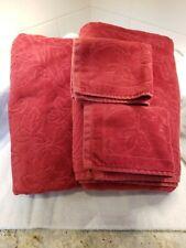 Fieldcrest 100% Egyptian Cotton Luxury Bath Towels x 2 + 2 Wash Cloths Burgundy