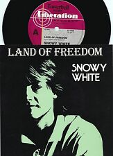 Snowy White ORIG OZ PS 45 Land of freedom NM '84 Blues Rock Thin Lizzy