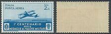 1934 REGNO MEDAGLIE POSTA AEREA 2 LIRE GOMMA BICOLORE - Z3-2