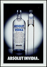 cartolina pubblicitaria PROMOCARD n.5406 ABSOLUT INVIDIA VODKA collection n.300