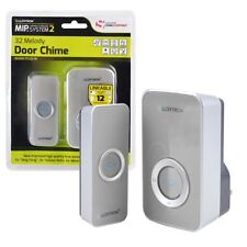 Lloytron B7505GR 32 Melody Mains Plug-in Wireless Door Chime With MIPS - Grey