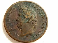1841-A French Colonies Five (5) Centimes Coin