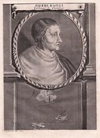 Portrait XVIIIe Pierre d'Ailly Petrus De Alliarco Cardinal Evêque d'Orange