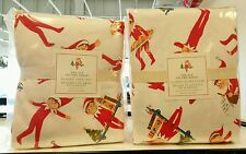 NEW Pottery Barn Kids Christmas Elf on the Shelf Queen Duvet & Flannel Sheet Set