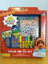 Pocketwatch Ryan's World Color And Go Set for Boys with Stickers. Brand New!