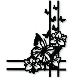 Metal Cutting Dies Butterfly Flower Corner dies Scrapbooking decoration Embossin