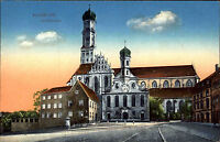 Augsburg Bayern Schwaben AK ~1910 Dom Ulrichskirche Kirche Kirchturm Pfarrkirche