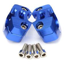 2PC 28mm Motor HandleBar Fat Bar Risers Mount Clamp Adaptor Exchange Aluminum US