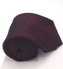 $125 CALVIN KLEIN Men`s RED SOLID DRESS NECK TIE WOVEN CASUAL SLIM NECKTIE 60X3