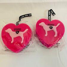 (2 Pack) Victoria's Secret Pink Shower Dottie Dog Logo Heart Shaped Sponge