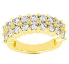 4.71 carat Round Diamond Wedding Ring Mens 14k Yellow Gold Band G color SI1/S12