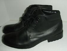 Unlisted by Kenneth Cole Men's Break Cover Black Ankle Boots Size 9 M