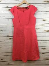 Tahari Aurthur Levine Sleeveless Coral Orange Dress 12 Women's