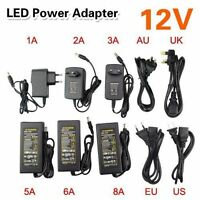 AC100V-240V TO DC 12V 2A/3A/5A/6A/8A Power Supply Adapter Charger For LED Strip