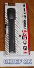MAGLITE 3-C LED Flashlight Pewter Gray Maglight ML25LT TWIST ON/OFF