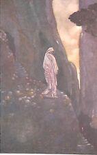 Rene Bull. fantasía. impresión Antiguo. 1930. montaña. figura. arte artista.