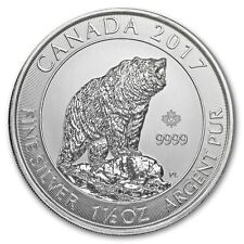 2017 $8 Silver Canadian Grizzly Bear 1.5 oz .9999 fine Silver RCM