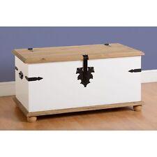 Corona Simple Coffre Rangement Peint En Blanc