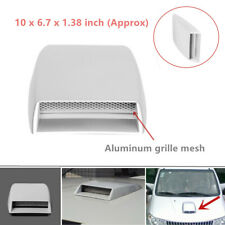 1X Car White Hood Air Flow Sticker Intake Vent Cover Grille Front Decorative