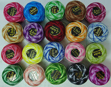 20 VARIEGATED ANCHOR CROCHET COTTON THREAD BALLS 20 DIFFERENT COLOURS NEW