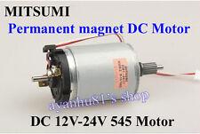 DC 12V-24V MITSUMI Permanent magnet 545 Motor dual shaft Hand Wind Generator DIY