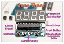 DIY kit Juno timer clock arduino AVR Atmega8 Pro Nano Uno US UsbaspBootloader