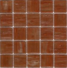 25pcs SM28 Mid Brown Bisazza Smalto Italian Glass Mosaic Tiles 2cm x 2cm