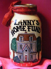 HOME REPAIR MONEY JAR/BANK/  HANDMADE & PERSONALIZED w/name  w/slotted lid