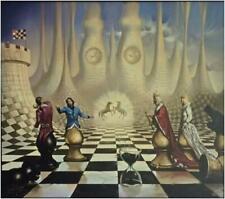 """Kush, Vladimir   """" Chess """"    Giclee   MAKE OFFER  DSSBA"""