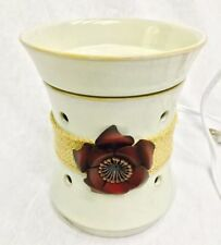 Roselyn Scentsy Wax Warmer Tan Burlap Rose Original Box Floral Wickless Candle