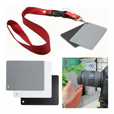 3in1 18% Digital Photography Exposure Color Balance Card Set Grey//BlackWhite
