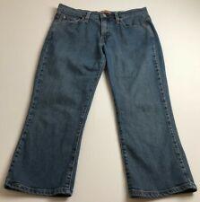 Levis 515 Women's Denim Capri Jeans Sz 10 Medium Wash Zip Up 5 Pockets Casual
