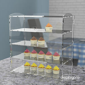 Acrylic Bakery Pastry Display Case Stand Cabinet Cakes Donuts Cupcakes Pastries