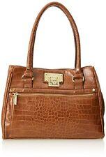 Anne Klein Alligator Alley 60230543 Top Handle Bag, Saddle slightl defected HB02