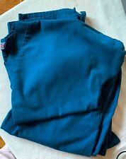 Cherokee Dark Turquoise Scrub Top and Bottom - Size Small