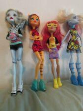 Rare Monster High Four Loose Dolls MH Doll Mattel Cloths