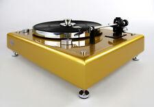 Restaurierter Thorens TD160 Plattenspieler limited edition gold metallic