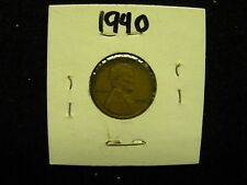 1940 Lincoln Head Wheat Penny / One Cent Coin  (Not Professionally Graded)