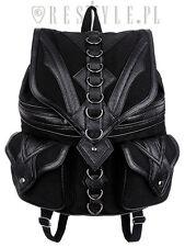 Restyle Dragon Goth Punk Rocker Emo 90s D-rings Womens Backpack Handbag Purse