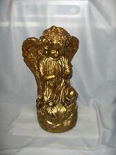 Vintage Gold Leaf Cherub Angel Figurine Kneeling Praying NICE