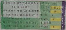 Stevie Nicks / Peter Frampton - Vintage Aug 12, 1986 Concert Ticket Stub 1