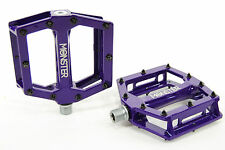 Redline Monster MTB/BMX Bike Platform Pedals w/ Replaceable Pins, Purple