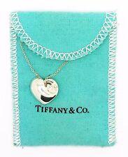 Tiffany & Co  Elsa Peretti Full Heart Pendant & Necklace