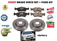 FOR OPEL VAUXHALL VECTRA B + GSI TDI 1995-1999 FRONT BRAKE DISCS SET + PAD KIT