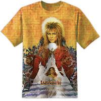 Mens David Bowie Labyrinth Movie Jareth Babysitter T Shirt The Goblin King Retro