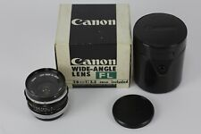 [Excellent+++]CANON WIDE ANGLE LENS FL28mm F3.5 w/Case Box from japan #207-12