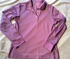 "Adidas, ""ClimaCool""  3/4 sleeved  Violet sports shirt, Size Medium"