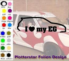 I love my EG JDM Sticker Aufkleber OEM Power fun like Shocker Bitch Hater